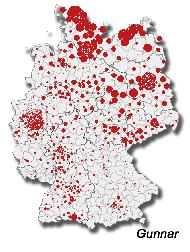 Verbreitung Gunnar in Deutschland
