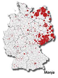 Verbreitung Manja in Deutschland